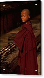 Boy Buddhist In Bodh Gaya Acrylic Print