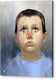 Boy Clown Acrylic Print