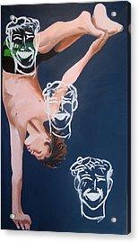 Boy Diver With 3 Tam-o-shanters Acrylic Print by Geoff Greene