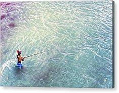 Boy Fishing Acrylic Print by Glenn Gemmell