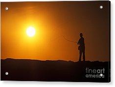 Boy Flyfishing Acrylic Print