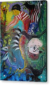 Boy Full Of Life Acrylic Print by Ottoniel Lima and Stephen Barry