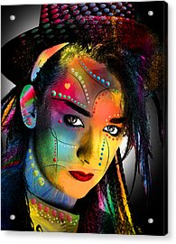 Boy George  Acrylic Print by Mark Ashkenazi