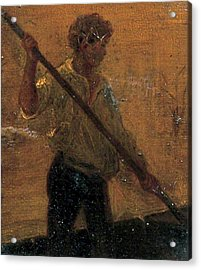 Acrylic Print featuring the painting Boy In A Punt by Henry Scott Tuke