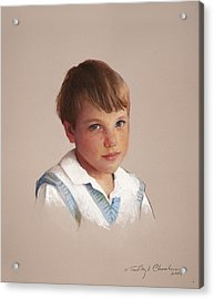 Boy In Blue Acrylic Print by Timothy Chambers