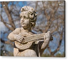 Boy Lute Statue Acrylic Print by Billy Soden