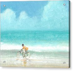 Boy On A Bike Acrylic Print by Lincoln Seligman