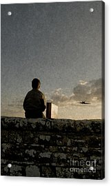 Boy On Wall Acrylic Print