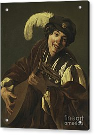 Boy Playing The Lute Acrylic Print