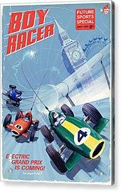 Boy Racer Acrylic Print by Alex Tomlinson