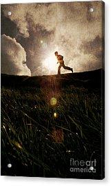 Boy Running Acrylic Print