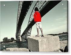 Boy Under Bridge Acrylic Print