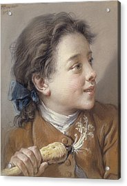 Boy With A Carrot, 1738 Acrylic Print by Francois Boucher