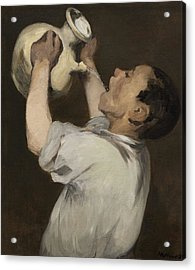 Boy With Pitcher Acrylic Print by Edouard Manet