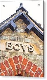 Boys' Entrance Acrylic Print by Tom Gowanlock
