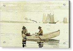 Boys Fishing, Gloucester Harbor, 1880  Acrylic Print