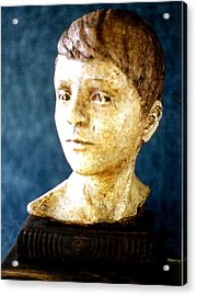 Boy's Head Acrylic Print by Sarah Biondo