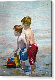 Boys On The Beach Acrylic Print