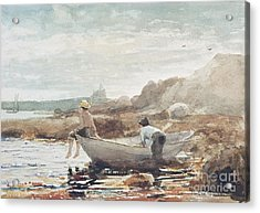 Boys On The Beach Acrylic Print by Winslow Homer