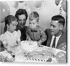 Boys Second Birthday Party, C.1950s Acrylic Print by H. Armstrong Roberts/ClassicStock