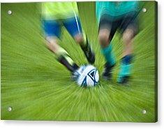 Boys Soccer Acrylic Print