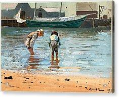 Boys Wading Acrylic Print