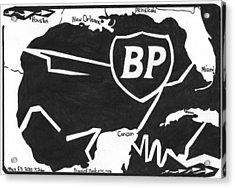 Bp Oil Slick Acrylic Print by Yonatan Frimer Maze Artist