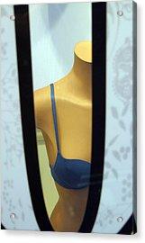 Bra Peeking Acrylic Print by Jez C Self