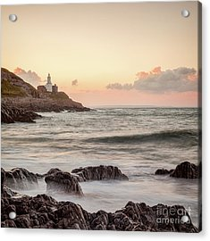 Acrylic Print featuring the photograph Bracelet Bay And The Mumbles Lighthouse by Colin and Linda McKie
