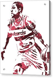 Bradley Beal Washington Wizards Pixel Art 3 Acrylic Print