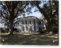 Bragg-mitchell Mansion Is An 1855 Greek Acrylic Print by Everett