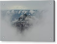 Brahma Temple In A Sea Of Clouds Acrylic Print