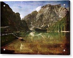 Braies Lake Acrylic Print