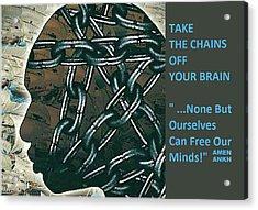 Brain Chains Acrylic Print
