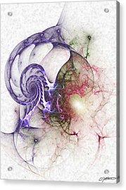 Brain Damage Acrylic Print by Casey Kotas
