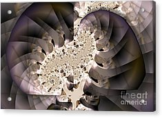 Brain Stem Acrylic Print by Ron Bissett
