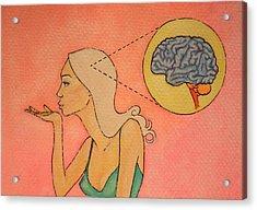 Brains And Beauty Acrylic Print by Ramey Guerra