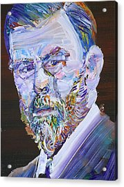 Acrylic Print featuring the painting Bram Stoker - Oil Portrait by Fabrizio Cassetta