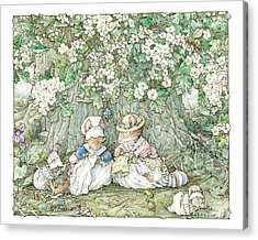 Brambly Hedge - Hawthorn Blossom And Babies Acrylic Print