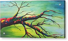 Branching Out In Color Acrylic Print