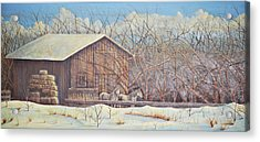 Acrylic Print featuring the painting Brandon's Horses by Dusty Bahnson