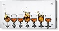 Brandy Glass Splash Acrylic Print by Andy Astbury