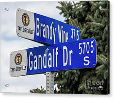 Brandywine And Gandalf Street Signs Acrylic Print by Gary Whitton