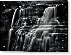 Brandywine Falls At Cuyahoga Valley National Park B W Acrylic Print