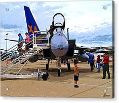 Branson Airport Airshow Acrylic Print by Julie Grace