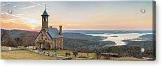 Branson Missouri Top Of The Rock Sunset Panorama Acrylic Print