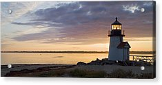 Brant Point Dawn - Nantucket Acrylic Print by Henry Krauzyk