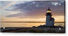 Brant Point Dawn - Nantucket Acrylic Print by Henry Krauzyk