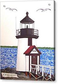 Brant Point Lighthouse At Nantucket Harbor Acrylic Print by Frederic Kohli