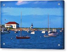 Brant Point Lighthouse Acrylic Print by Kim Hojnacki